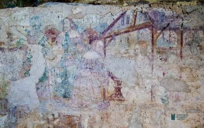 Adoration of the Magi: Wall Painting at Berry Pomeroy, South Devon