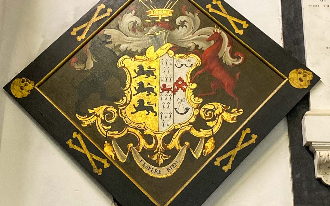 Funeral Hatchments at Crowcombe Church