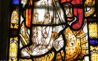 15th Century-Stained Glass – Saints of The Golden Legend: The Dragon Window, Trull, Somerset