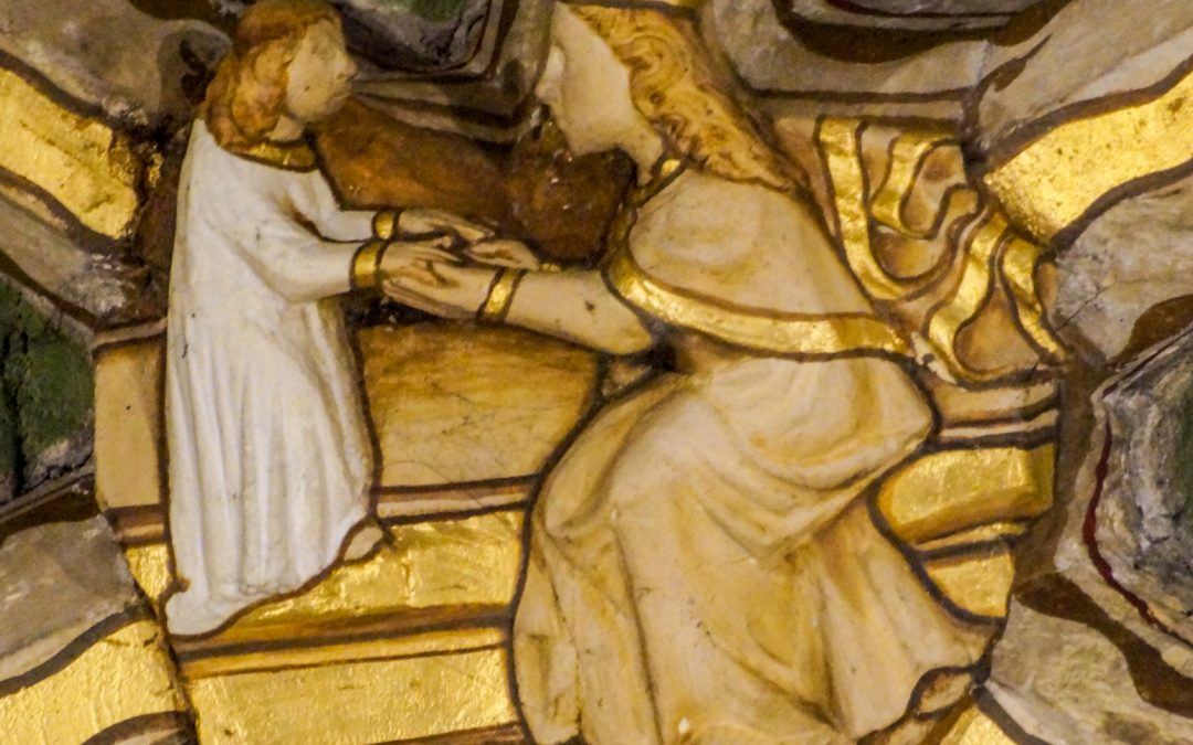 TEWKESBURY ABBEY: Art in the 14th C – The Nave Vault Bosses Depicting the Life of Christ